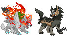 Okami and Link sprites by Krystal-Wingwolf