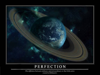 Motivation poster- Perfection by BERmaestro