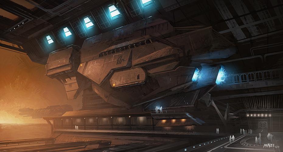 Ship Hangar by ATArts
