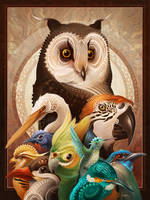 Bird Collage by ATArts