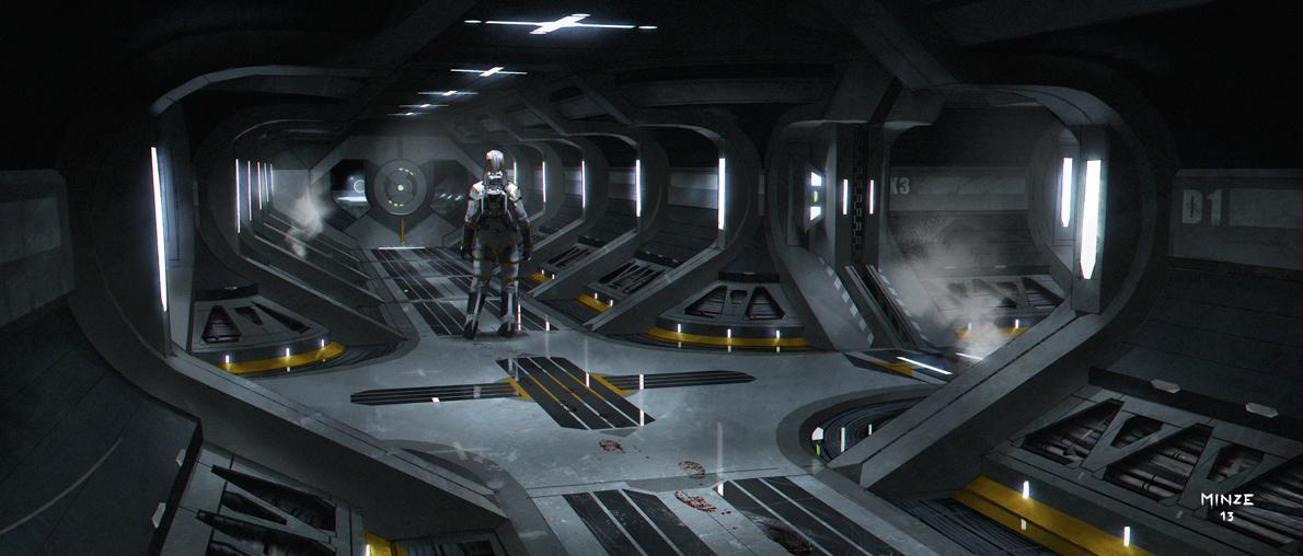 Sci fi corridor 2 by atarts on deviantart for Unity 3d room design