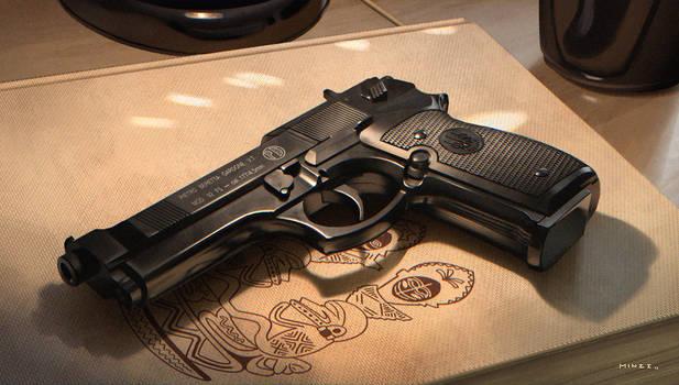 Air pistol still life