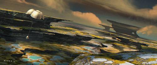 Alien world landing by ATArts