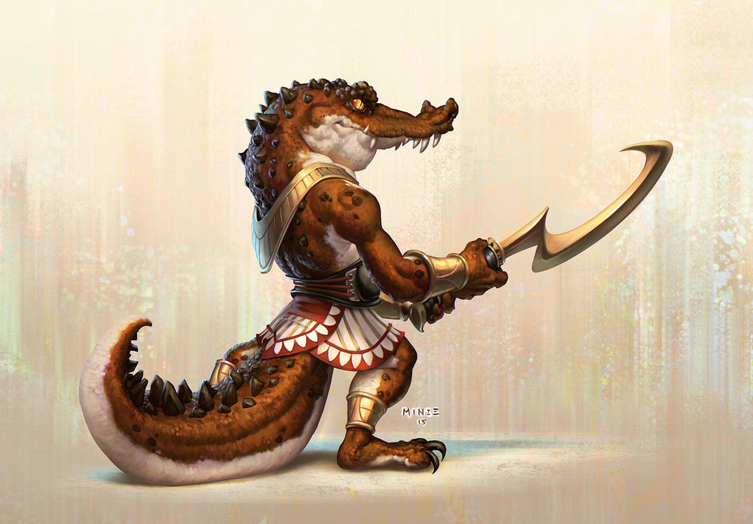 Egyptian Croc Guard by ATArts