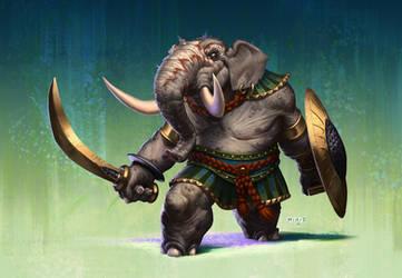 Indian Elephant by ATArts