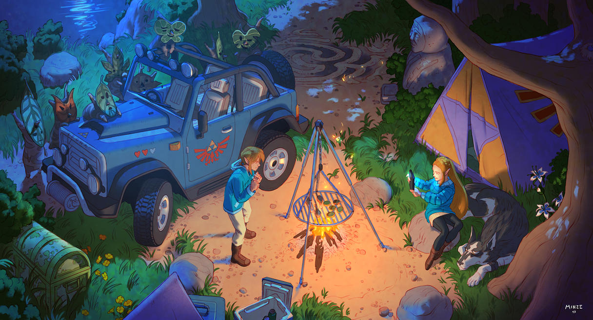 The Legend of Zelda : Camping in the Wild by ATArts