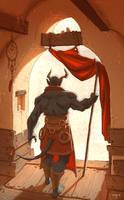 Ork / Demon Sketch by ATArts