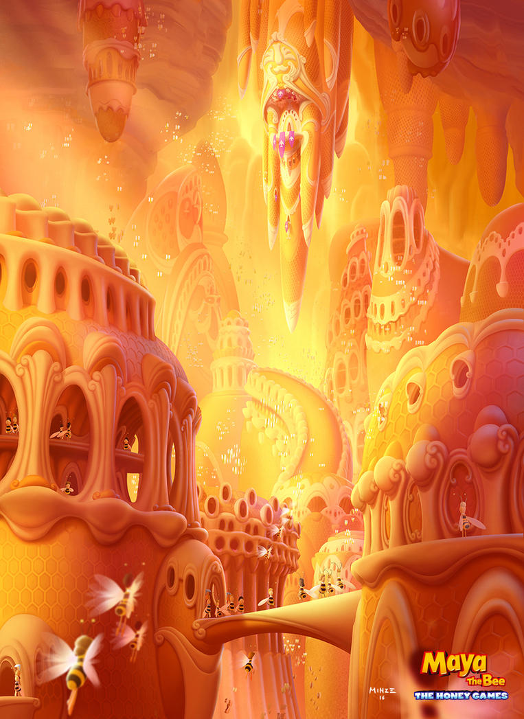 Maya The Bee: The Honey Games Concept Art by ATArts