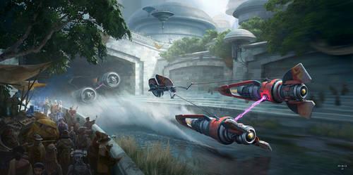 Star Wars Podracer Fanart