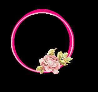 [RESOURCE] Pink Flower Circle PNG by ektamisra