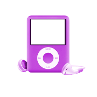 [RESOURCE] Purple IPod PNG by ektamisra