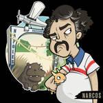 'Narcos' Pablo Escobar Character Design Fan Art