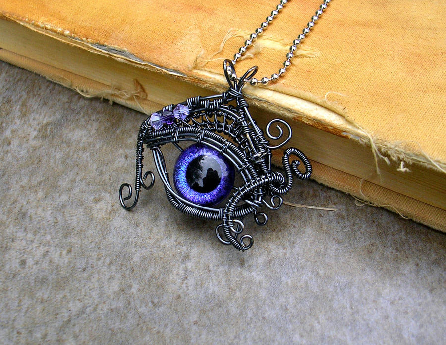 Wire Wrap Violet Storm2 Dragon Evil Eye By Ladypirotessa On