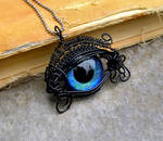 Wire Wrap - Black and Blue Beholder Kin Eye