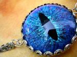 Evil Eye Dragon Eye Blue Choker Necklace Chains