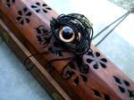 Wire - Dragon Evil Eye Pendant Pin - Copper Swirl