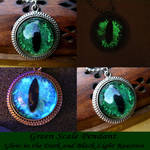 Green Scale Dragon Eye Pendant - Take 2 - GLOW