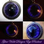 Glow Violet - Void Dragon Eye Pendant