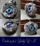 Wire Wrap - Custom Pocket Watch Eye Time Piece 1