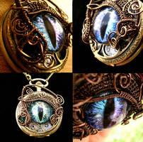 Wire Wrap Super Shift Time Piece Pocket Watch 1 by LadyPirotessa