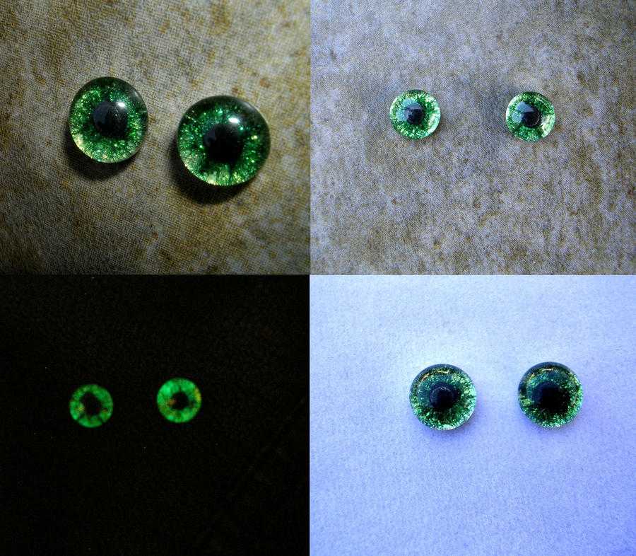 8mm Custom Eyes for Aotora - Green Gold Colorshift by LadyPirotessa