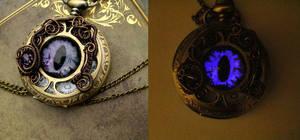 Ghost Bronze Brass Eye Pocket Watch