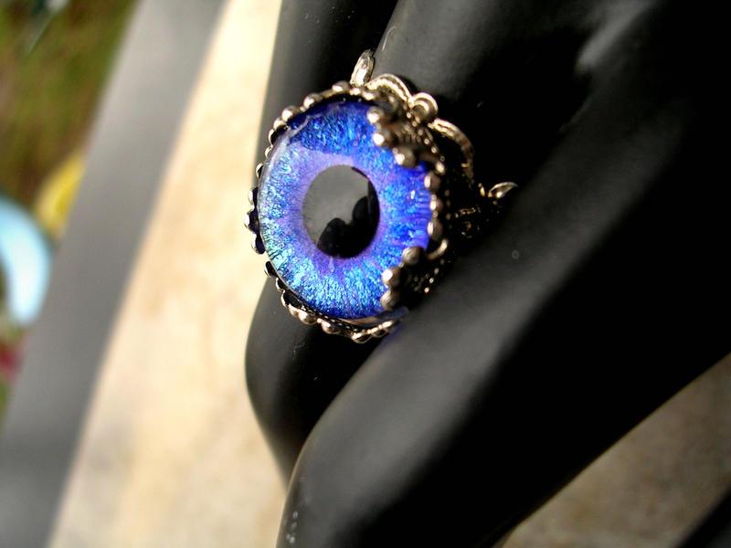 Blue Violet Strange Estate Ring by LadyPirotessa