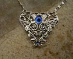 Glow Blue Silver Steampunk Heart