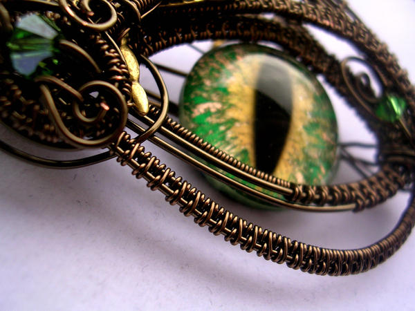 Lord Z's Custom Dragonfly Eye - Detail by LadyPirotessa