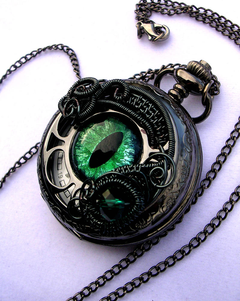 Custom for Lord ZGuy! - Pewter Black Green Watch by LadyPirotessa