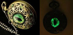 Dragon Pocket Watch - Regal - Forest Flame Detail