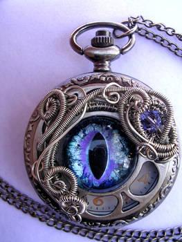 Purple Ice - Dragon Eye Pocket Watch