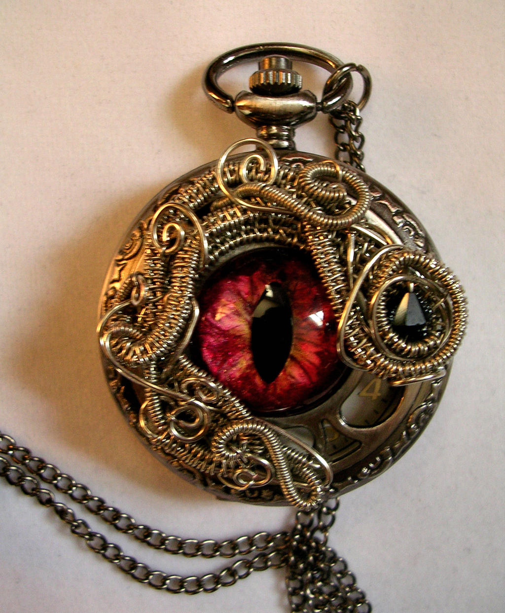 Custom for Lady ZK - Medusa Eye Watch by LadyPirotessa