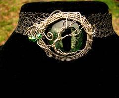 Tree Of Life - Elven Dryad Eye Brooch Pendant - 2 by LadyPirotessa
