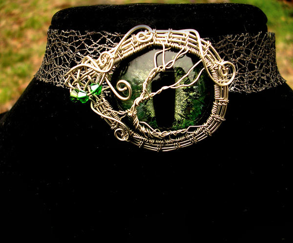 Tree Of Life - Elven Dryad Eye Brooch Pendant - 2 by LadyPirotessa