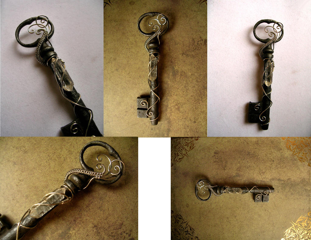 Custom Key - Andrew - Light Crystal by LadyPirotessa
