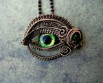 Bronze Green Steampunk Eye