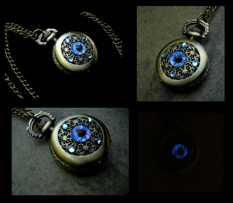 Petite Regal Pocket Watch - Sky Dragon Eye by LadyPirotessa