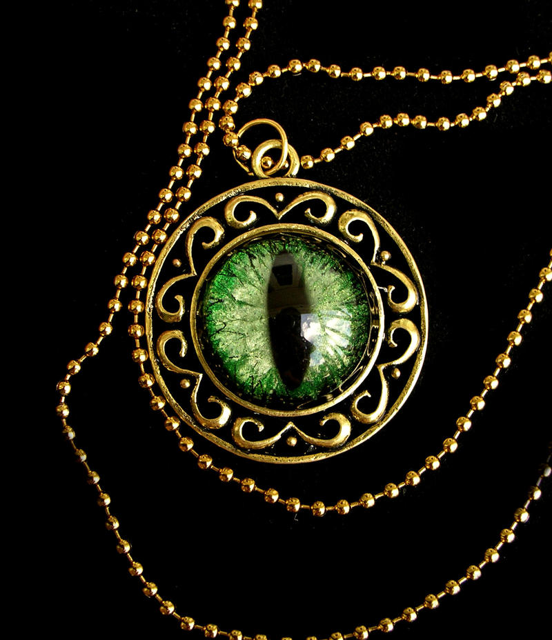 Green Golden Royalty Pendant - 2 by LadyPirotessa