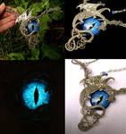 Wire Wrap - Dragon Eye Pewter Swirls