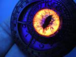 Orange UV Glow on one of our Custom Zodiac Pieces by LadyPirotessa