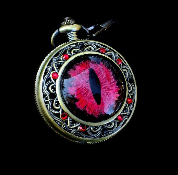 Vampire Blood - Sovereign Pocket Watch Custom by LadyPirotessa