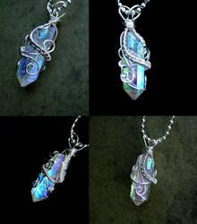 Angel Opal Aura - Super Flash Pendant by LadyPirotessa