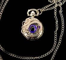 Custom - Violet Evil Eye Pocket Watch by LadyPirotessa
