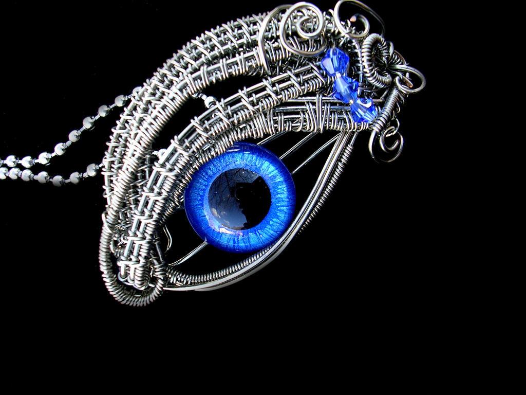 Pewter Blue Silver - Glow In the Dark Sky Eye by ...