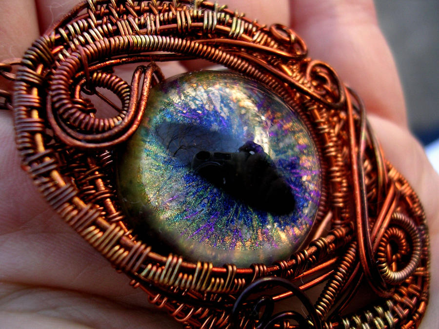 Spinning Wheel Magic Tool Tickets Redemption Corner Wire_wrapped_dragon_eye___copper_rainbow_peacock_by_ladypirotessa-d6ycw20