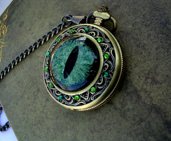 Sovereign Pocket Watch - Moss and Shadows by LadyPirotessa