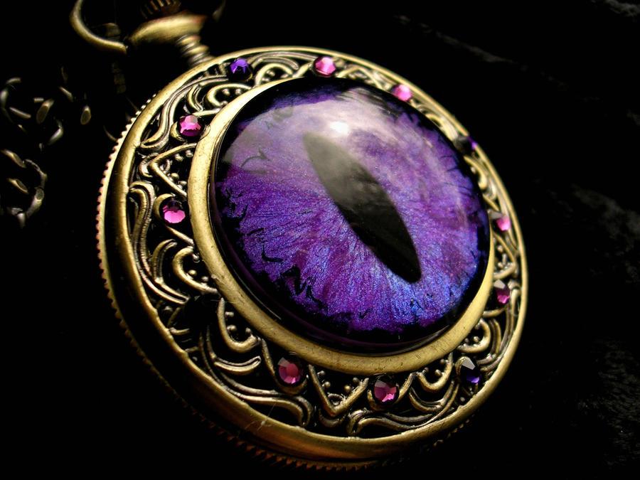 Custom Sovereign Pocket Watch  - Violet Purple by LadyPirotessa