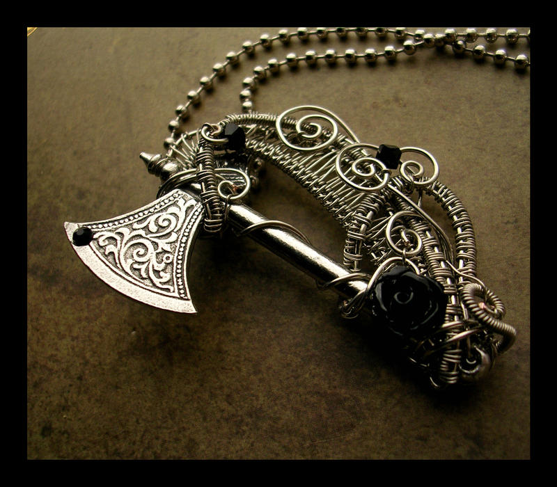 pendant and rings necklaces jewelry gothic axe watches earrings other pendants tiaras necklets braselets metal double
