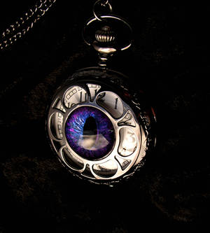 Gothic Pocket Watch - Regular Purple Aubergine